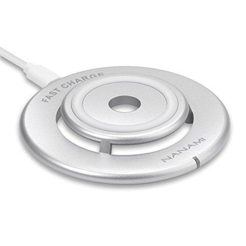 Wireless Schnellladegerät, NANAMI Doppelschicht Qi Fast Wireless Charger Kabellos Ladegerät Drahtloses Induktive Schnellladestation für Samsung Galaxy S6 Edge Plus / S7 / S7 Edge und Alle Qi-Enabled Geräte (Silber)