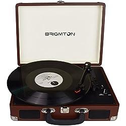 Brigmton BTC-404-M tocadisco - Tocadiscos (DC, Marrón)