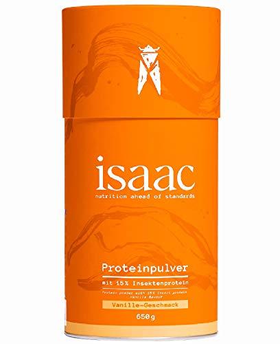 Protein Pulver mit Insektenprotein isaac nutrition - 650g Vanille - Hochwertiges, Laktosefreies, Nachhaltiges, Natürliches Eiweißpulver, 75% Eiweiss -