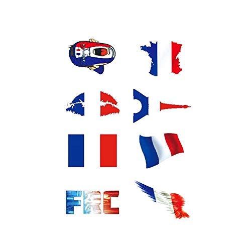 1 Set Wasserdichtes Nationalflagge Aufkleber WM Gesicht Körper Aufkleber Unisex temporäre Tätowierungen Frankreich