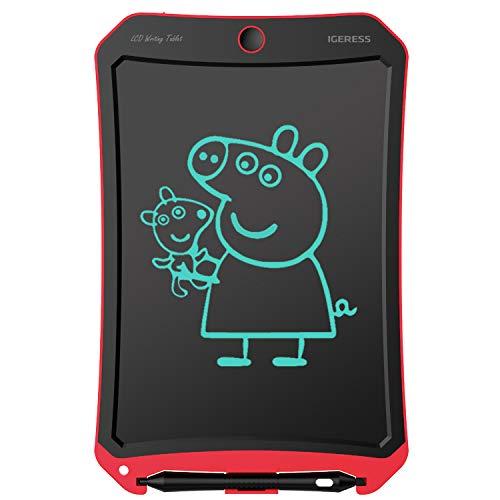 Schreibtafel, IGERESS 8,5 Zoll LCD Schreibtablett abwischbar elektronisch, licht und einfach zu bedienen schreibtafel fur Kinder zum Schreiben, Malen oder Lernen