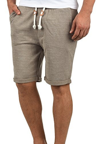 Redefined Rebel Memphis Herren Sweatshorts Kurze Hose Jogginghose aus 100% Baumwolle mit Kordel Regular Fit, Größe:XXL, Farbe:Faded Brown
