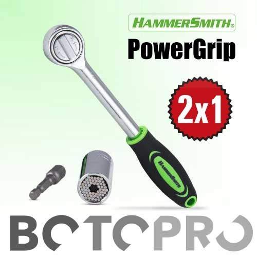 BOTOPRO - HammerSmith PowerGrip (2X1), la llave universal para 7-19 milímetros. Se adapta a cualquier tornillo, gancho o tuerca - Anunciado en TV