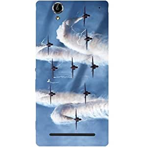 Casotec Airplane Design Hard Back Case Cover for Sony Xperia T2 Ultra