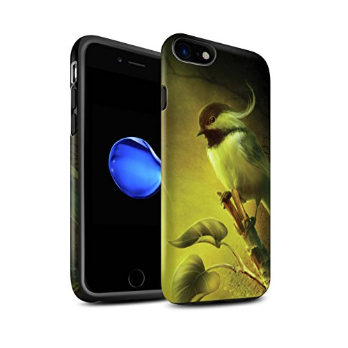 Officiel Elena Dudina Coque / Matte Robuste Antichoc Etui pour Apple iPhone 8 / Âmes Blanches/Des Bois Design / Les Oiseaux Collection Confiance