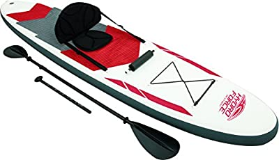 Bestway 8321637 - Tabla paddle para surf profesional con remo asiento desmontable, color blanco, 335 x 76 x 15 cm