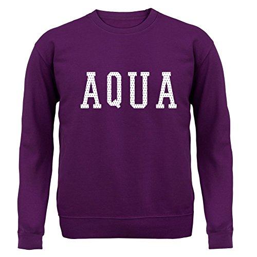 Justice Aqua College Style - Unisex Pullover/Sweatshirt - 8 Farben Lila