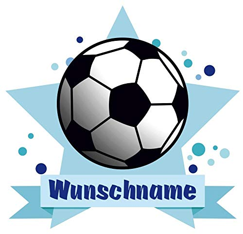 Samunshi® Fussball Aufkleber mit Namen Autoaufkleber Namensaufkleber Kinder in 7 Größen (15x13,1cm Mehrfarbig)