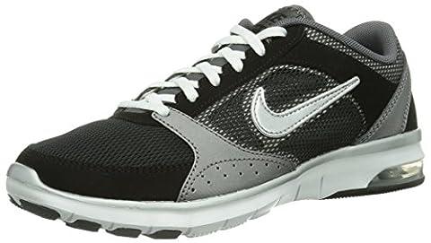 Nike Air Max Fit, Damen Hallenschuhe, Schwarz (Black/Metallic Silver/Dark Grey/White), 38 EU (4.5 Damen