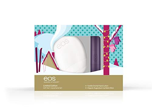 Hand Lotion Set (eos Limited Edition Hand-Lip-Set: Vanilla Orchid Hand-Lotion & Organic Sugarplum Lip Balm Stick, Geschenk-Set, Handcreme & Lippenbalsam, Beauty-Produkte für die Weihnachtszeit, 2er Set)