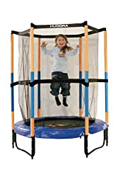 HUDORA children's trampoline Jump In with safety net - 140 cm, blue - 65596