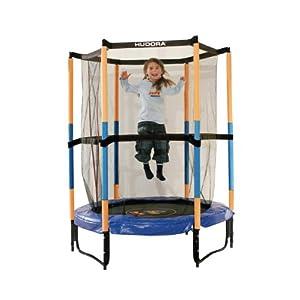 HUDORA Kinder-Trampolin Jump In mit Sicherheitsnetz – 140 cm