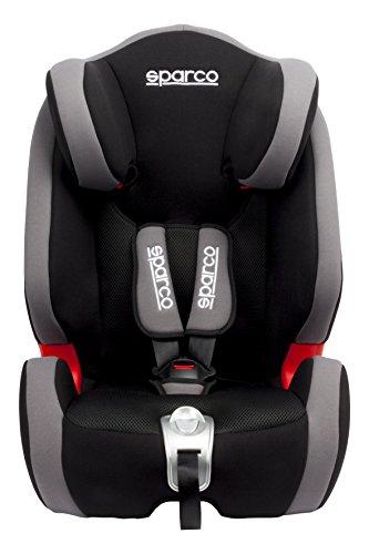 Sparco Kids SPCF1000KGR Seggiolino Auto, Gruppo 1/2/3, Grigio, 9 da 36 kg