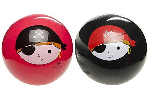 4869, SCHWARZER PVC Ball Piraten Design, Wasserball, Fussball, Fußball, Spielball, Beachball