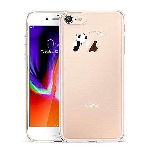 ESR iPhone 8 Hülle, iPhone 7 Hülle, Transparent [Weich Silikon][Ultra Dünn] mit süßes Motiv Schutzhülle für Apple iPhone 8/7 4.7 Zoll 2017 Freigegeben. (Panda)