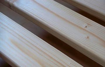 TUGA-Holztech 20mm Rollrost Rolllattenrost 90x200 cm Qualitätsarbeit aus Deutschland unbehandelt frei von Chemie Naturprodukt