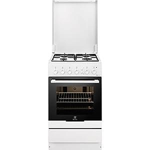 Electrolux RKG20161OW Independiente Encimera de gas A Blanco – Cocina (Cocina independiente, Blanco, Giratorio, Frente, Encimera de gas, Vidrio)
