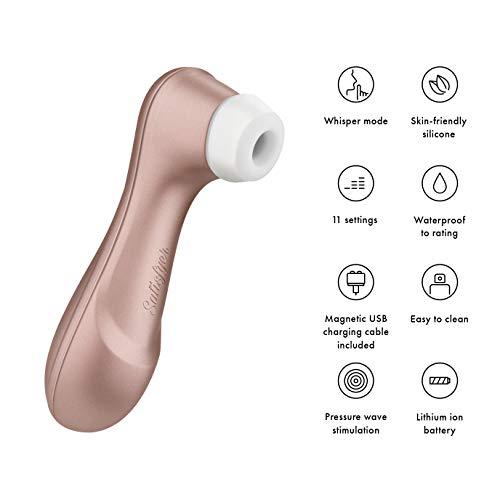 Satisfyer Pro 2 Next Generation, Klitoris-Sauger mit 11 Intensitätsstufen für berührlose Stimulation, Auflege-Vibrator mit Akku-Technik, wasserdicht - 5