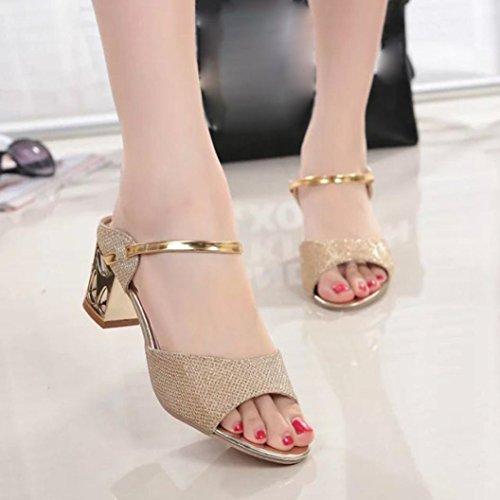 Toe De Salto Sandálias Boca Ouro Ásperas De Confortável Alto De Verão Mulheres Sapatos Abertas Saingace Peixe wvPqnvA1X