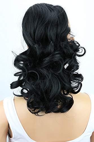 PRETTYSHOP 40cm Haarteil Zopf Pferdeschwanz Haarverdichtung Haarverlängerung VOLUMINÖS schwarz #1 PH1a
