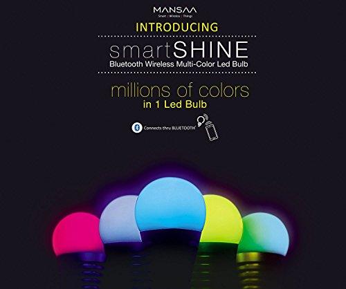 Mansaa-MAA01-9W2080H0B22-SmartShine-Base-B22-9-Watt-Bluetooth-Wireless-LED-Bulb-Silver