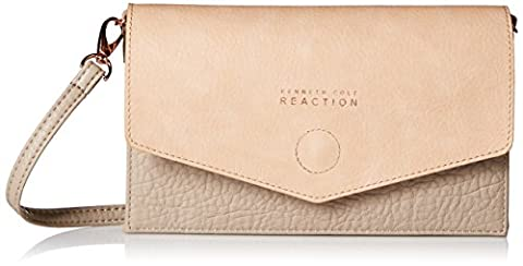 Kenneth Cole Reaction Cargo Flap Wallet on a String, Mink/Kc Pale