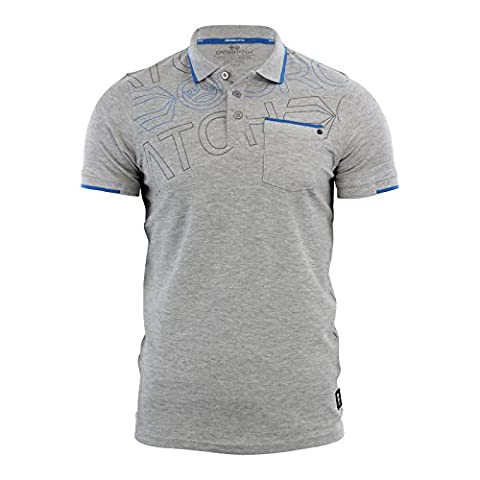 Crosshatch Mens Faithless Polo Shirt Top Grey - Size X Large