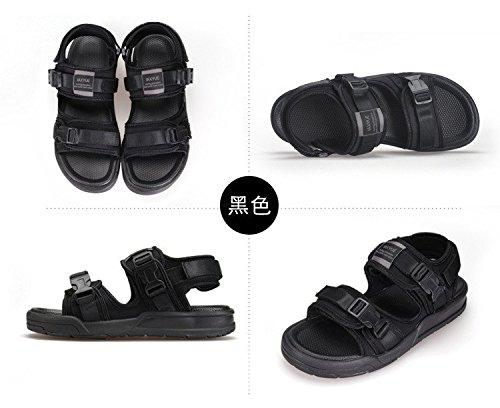 MeisiterTrade Unisex Casual Adjustable Straps bretelles reglables Flat Summer Beach Plage Thongs Shoes Chaussures Antiskid Sandals Black