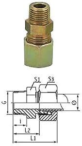 Gerade Einschraubverschraubung - Stahl - leichte 8, 250 bar, M14x1,5, 25, 10, 12, 19, 19, 17