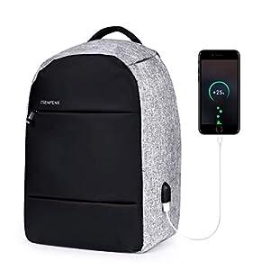 ISENPENK Mochila Antirrobo, Impermeable Mochila de Seguridad para 15.6″ Portátil Ordenador Multiusos con Puerto de Carga USB, Mochila Bolsa de Viaje Colegio Negocio para Hombre Mujer Estudiante