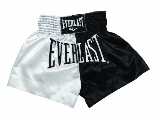 Everlast Erwachsene Boxartikel E7 Thai Boxing Shorts, White, M, 057355 30330