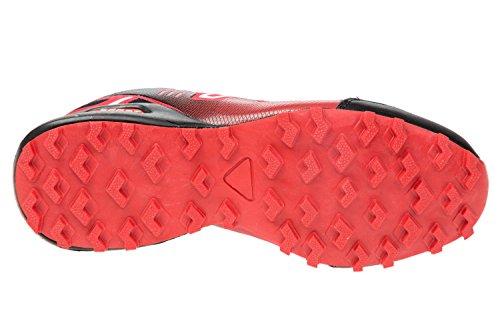 gibra , Chaussures de course pour homme noir/rouge