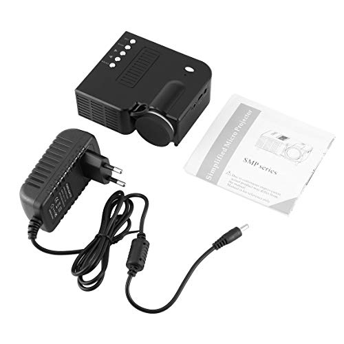 Heaviesk UC28B Mini Tragbare LED Projektor 1080 P Multimedia Familie Kino Heimkino USB TF Karteneingang Mini Beamer Für PC Laptop - Tragbar Multimedia-projektor
