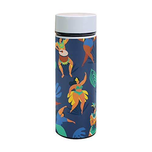 Samba Dancer Lustige Edelstahl Thermos Isolierflasche Kinder Trinkflasche Vakuumflasche Kaffee Reise Becher 350 ml