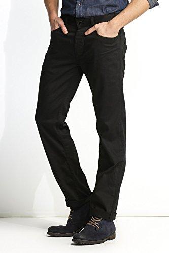 Salsa - Jeans Navarro, gerades Bein, mit Verschleiß Stellen - Mann Schwarz
