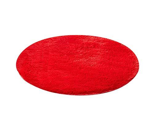 Shaoyao Badematte | kuscheliger Hochflor | Rutschfester Badvorleger In 9 Größen Rot 120 * 120CM