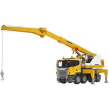 bruder 03570 camion scania r serie avec grue liebherr int gr e jaune jeux et. Black Bedroom Furniture Sets. Home Design Ideas