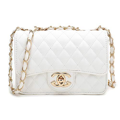 liyuan Handtaschen Messenger Bag Lingge Kette Paket Schulter Mode Mini Tasche (White2, OneSize) -
