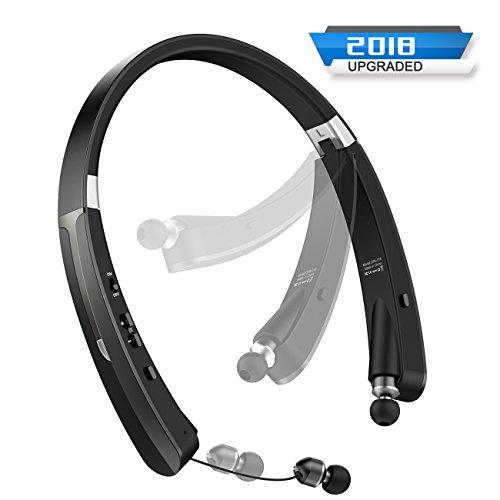 ARZOPA Cuffie Bluetooth Wireless, Auricolari Bluetooth Senza Fili in-Ear Sweatproof con Microfono, Cuffie Senza Fili Retrattili, Design Pieghevole, Bluetooth 4.1 per Tutti i Dispositivi