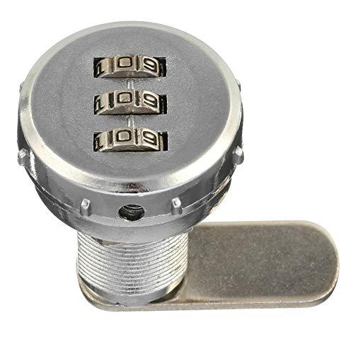 Cam Lock 3 Digit Cabinet Alloy Coded Combination Post Keyless Digital RV Mail Box Drawer