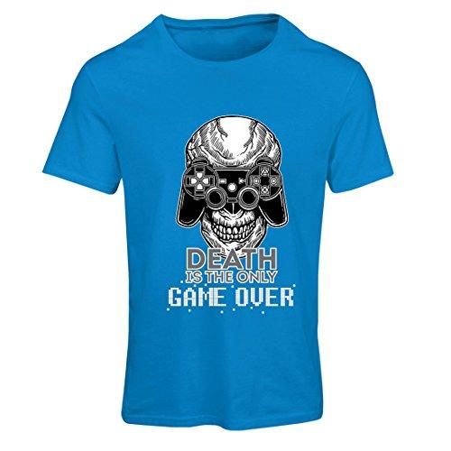 Maglietta Donna Game over, gamer cranio, scheletro, regalo divertente, citazioni di gioco Azzulo Multicolore