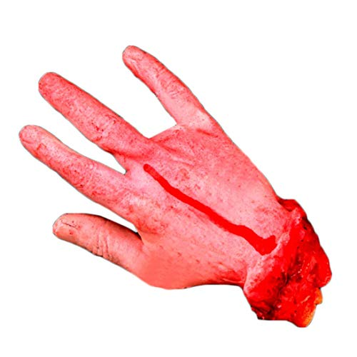 Schocker Horror Kühlschrank Splatter Gag Organ Grusel Partydeko Arm Hände Bloody Dead Körperteile Haunted House Halloween Dekorationen (D) ()