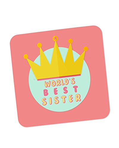 PosterGuy World's Best Sister Rakhi Gift Coaster  available at amazon for Rs.199