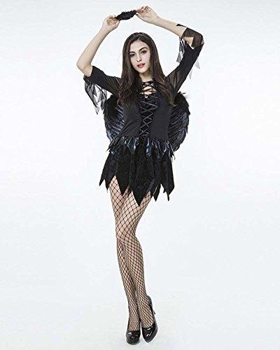 Angelo Costume Carnevale Halloween Sexy Donna Nero Nero