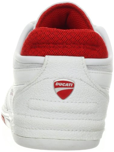 Puma Xelerate Low Ducati NM Hommes Synthétique Baskets White-White-High Risk Red