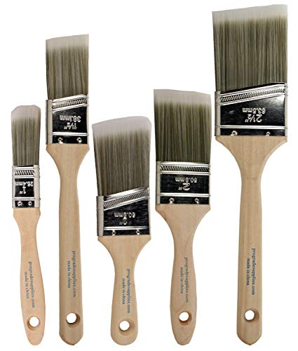Pro-Grade Home Wall/Trim House Paint Brush Set for Professional Painter and Owners