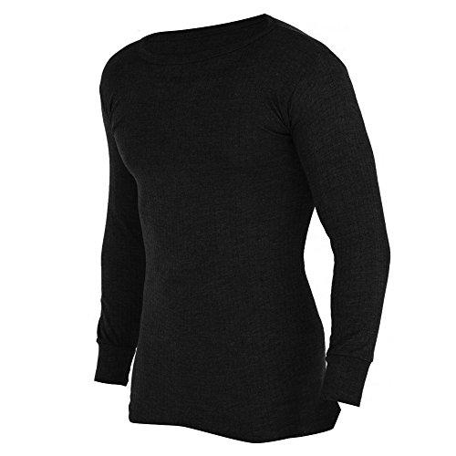 FLOSO® Mens Thermal Underwear Long Sleeve Vest Top (Viscose Premium Range)