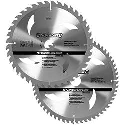 Silverline 991704 - Discos de TCT para sierra circular 40 y 60 dientes, 2 pzas (250 x 30 - anillos de 25, 20 y 16 mm)
