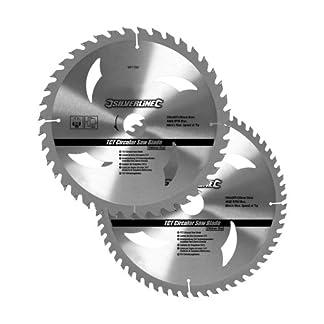 Silverline 991704 – Discos de TCT para sierra circular 40 y 60 dientes, 2 pzas (250 x 30 – anillos de 25, 20 y 16 mm)