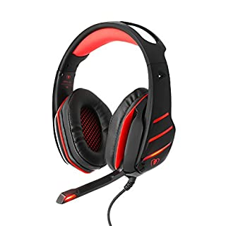 BlueFire PS4 Headset, Bass Stereo Over-ear Gaming Headphone with Mic and LED Light for PS4 / New Xbox one / Xbox One s / Xbox One X / Nintendo Switch / PC / Computer / Phones (Red)